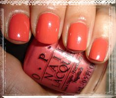 """OPI - """"I eat mainely Lobster"""", 3 couches avec flash"""