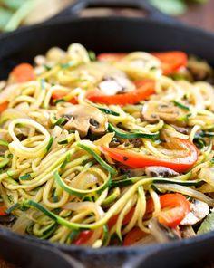 Tallarines de verduras   #Receta de cocina   #Vegana - Vegetariana ecoagricultor.com: