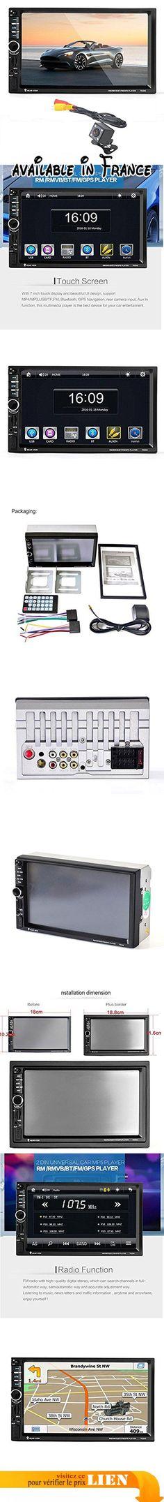 """Ularma 7"""" HD Bluetooth Écran tactile Voiture GPS Stéréo Radio 2 DIN MP5/MP3/USB/AUX + Appareil photo. Support sans fil Bluetooth connexion et main libre téléphone appel fonction.. Soutenir la fonction de Navigation GPS. Support FM et intégré Aux Input.. Carte de TF de soutien (jusqu'à 32Go) fente et interface USB standard.. Fonction d'entrée caméra de recul de soutien. #GPS or Navigation System #GPS_OR_NAVIGATION_SYSTEM"""