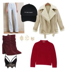 """""""70s inspire, winter outfit peaceouy✌️"""" by romina-francisca on Polyvore featuring J Brand, Club L, Marc Jacobs, Office and Charlotte Russe"""