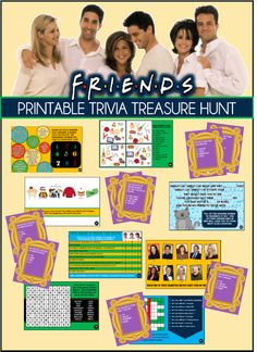Friends Show Themed Party Games – based on the hit show Friends! Friends Show Themed Party Games – based on the hit show Friends! 30th Birthday Parties, Birthday Party Games, 50th Birthday, Birthday Ideas, Friends Trivia, Friends Tv Show, Engagement Party Games, Wedding Games, Dinner Party Games