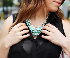 layered statement necklaces -- layer like colors for a fail proof mix!