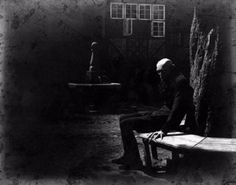 "horror-movie-confessions: "" Max Schreck on the set of Nosferatu (1922). Courtesy…"