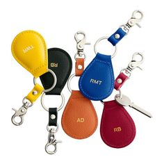 Piazza Leather Key FOB | Mark and Graham