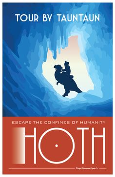 HOTH Star Wars Travel Poster Vintage Print Hans Solo by MMPaperCo