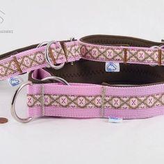 "ZugStopp- Halsband ""Rosa Liebe"", Neopren, braun  22,90€–29,90€"