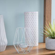 Vase en céramique blanc/gris H 25 ...