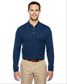 adidas  ClimaLite Long Sleeve Polo  A186NavyWhite3XL ** Read more reviews of the product by visiting the link on the image.(This is an Amazon affiliate link)