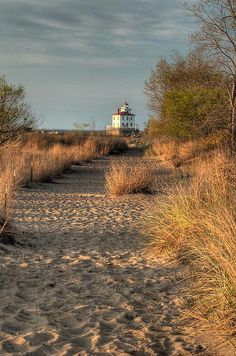 """""""Path to the Light"""" - Taken at Headlands Beach State Park on Lake Erie in Ohio."""