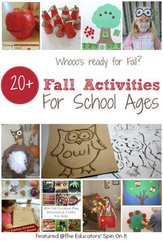 "20+ Fall Activities for School Ages featured at The Educators' Spin On It ""Whoooo's Ready for Fall?"