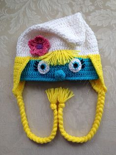 Crocheted Girl Gnome Character Hat