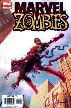 Marvel Zombies cover by Arthur Suydam. 10 Zombie Comics you should read. Ms Marvel, Marvel Comics Art, Univers Marvel, Comic Book Covers, Comic Books Art, Evil Dead, Best Kindle, Fanart, Zombie Art