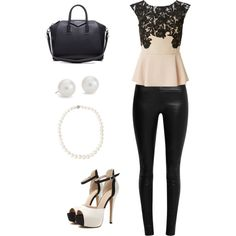 A fashion look from May 2015 featuring Lipsy blouses, The Row leggings and Givenchy handbags. Browse and shop related looks.