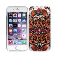 Coques / Protections iPhone 6 (4.7 pouces) - Coque de protection design fleur retro orange pour iphone 6 - 4.7 pouces - nemtytab.com 3,60 EUR