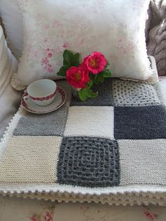 knit and crochet patchwork - very lovely
