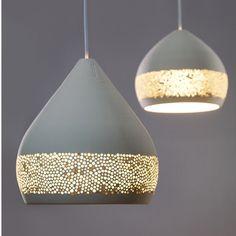 Lámpara de cerámica Sponge Oh!   Pottery Projects   CoolMaison