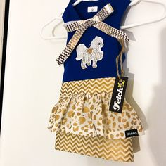 """I love how this """"Design your own"""" Dog Dress turned out! The customer chose to combine multiple fabrics textures, prints & colors. The result is completely fabulous. Who said peplum dresses are just for humans?  Design ur own dog dress starting at $19.99"""