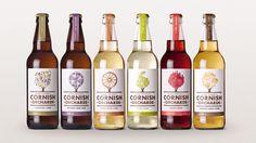 Cornish orchards, cidre de Cornouailles (GB) Cidre aromatisé aux jus de fruit.