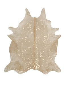 Cowhide Imports - Devore Metallic Gold on Beige Cowhide Rug