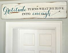 The sign is nice, but what I like is the door. This is what I want every door in my house to look like.