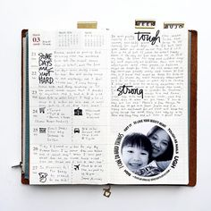 Week 12 in my Midori traveler's notebook.  Nothing but black ink this week.
