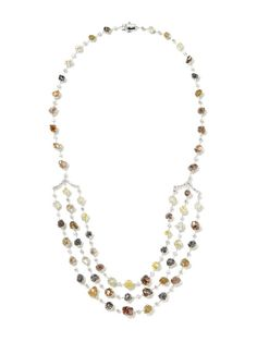 Astra Alternating Diamond Bib Drop Necklace by Diamond in the Rough on Gilt.com