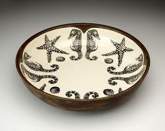 Laura Zindel: Small Pasta Bowl: Sea Horse