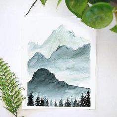 Monochrome Mountains Watercolor Kit - Christina Penrose - Re-Wilding Watercolor Kit, Watercolor Mountains, Monochromatic Art, Watercolor Sunflower, Love Painting, Watercolor Artist, Watercolor Elephant, Art, Monochromatic Paintings