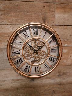 Industriële radar klok glas antique koper Ø 46 cm x cm Decorative Items, Home And Garden, Antiques, Inspiration, Wall Clocks, Aztec, Home Decor, Future, House