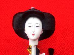 Japanese Doll Head Hina Matsuri Girl D40 Hina by VintageFromJapan, $12.00