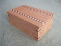 Wooden Box Keepsake Box Jewelry Box made of by DavidsFineWoodcraft