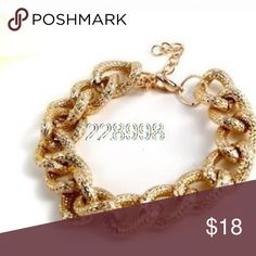 🔴Gold Chain Bracelet New Arrived !!  Gold Aluminum Chain Bracelet so Delicate👌 Jewelry Bracelets