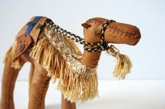 Leather Camel Figure Toy Statue by MysticLily on Etsy, $28.00