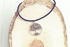 Silver Tree Necklace | Woodland Necklace | Silver Tree Jewelry | Tree Of Life Cord Necklace | Silver Necklace For Men Mens Silver Necklace, Silver Necklaces, Handmade Necklaces, Tree Necklace, Simple Necklace, Beaded Necklace, Be Your Own Kind Of Beautiful, Sliding Knot, Jewelry Tree