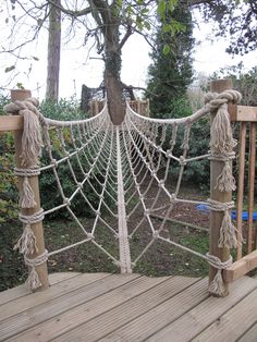 Squirrel Design: Tree House Walkways and Bridges Squirrel Design: Tree House Walkways and Bridges Kids Yard, Backyard For Kids, Natural Playground, Backyard Playground, Tree House Playground, Tree House Plans, Outdoor Movie Nights, Cool Tree Houses, Tree House Designs