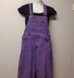 PURPLE  Hand Dyed Denim Overalls Pants Vtg by GypsysTreasureCove