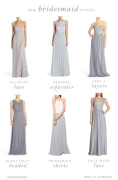 Designer bridesmaid dresses and styles from @Nordstrom  #Nordstrom