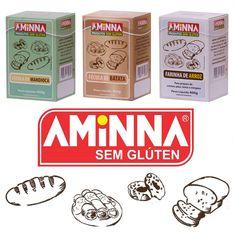 A Farinha sem Glúten Aminna é ideal para receitas de pães e bolos sem glúten! Confira as opções!
