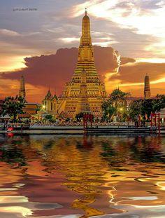 วัดอรุณ Thailand Thailand Destinations, Tower, Building, Travel, Viajes, Computer Case, Buildings, Towers, Trips