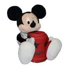 Miami Heat NBA Mickey Mouse with Throw Combo