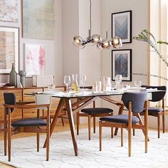 No matter what you're serving for dinner, our Jensen dining table serves up major style. Shop this look with the link in profile! #westelm