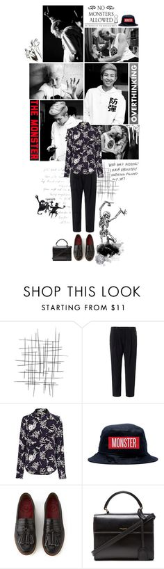 """95. No Monsters Allowed"" by himchan ❤ liked on Polyvore featuring rag & bone, Kenzo, Grenson, Yves Saint Laurent, kpop, bts, BangtanBoys and rapmonster"