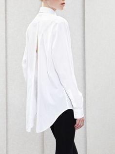 white blouses.  black pants.  classic.