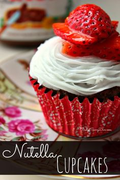 Nutella Cupcakes Recipe. I think of love and sweetness when I think of strawberries and chocolate. But strawberries and Nutella ! That's pure sinful.