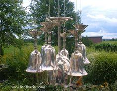 DIY Silver Goblet Wind Chimes - Thrifty Rebel Vintage