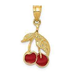 Jewels Obsession Caduceus Charm Pendant 14K Yellow Gold Caduceus Pendant 20 mm
