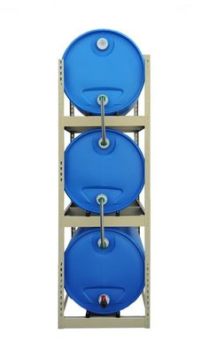 Water barrel towers. So cool water-storage