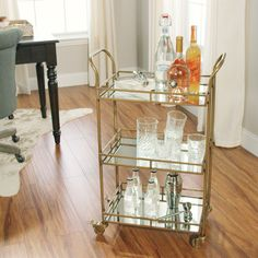 Looking for a bar cart--something like this--so I have a classy place to store my booze. Probably my favorite option so far.