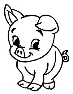 Cute Baby Animal Pig Coloring Pages