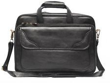 Comfort 15 inch Pure Leather Black Laptop Bag for men and women unisex EL36